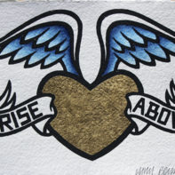 RISE ABOVE (blue wings) THUMB