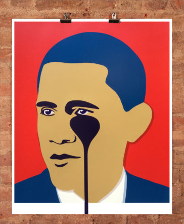 Crying Obama Red