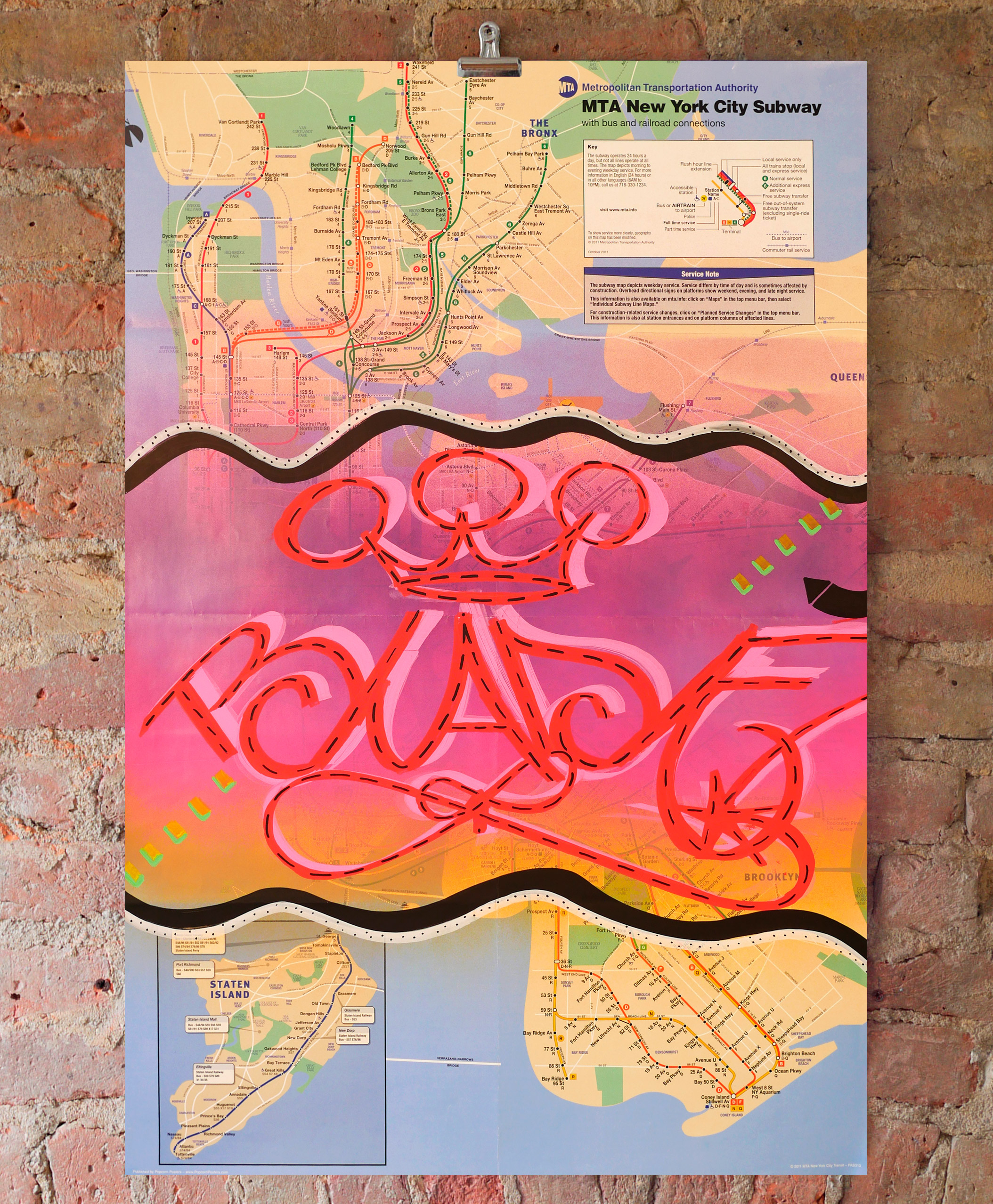 Creative Subway Map.Original Subway Map 4