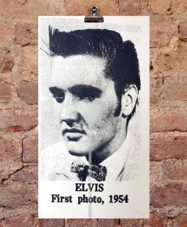 Elvis First Photo, 1954 - Silver Heart