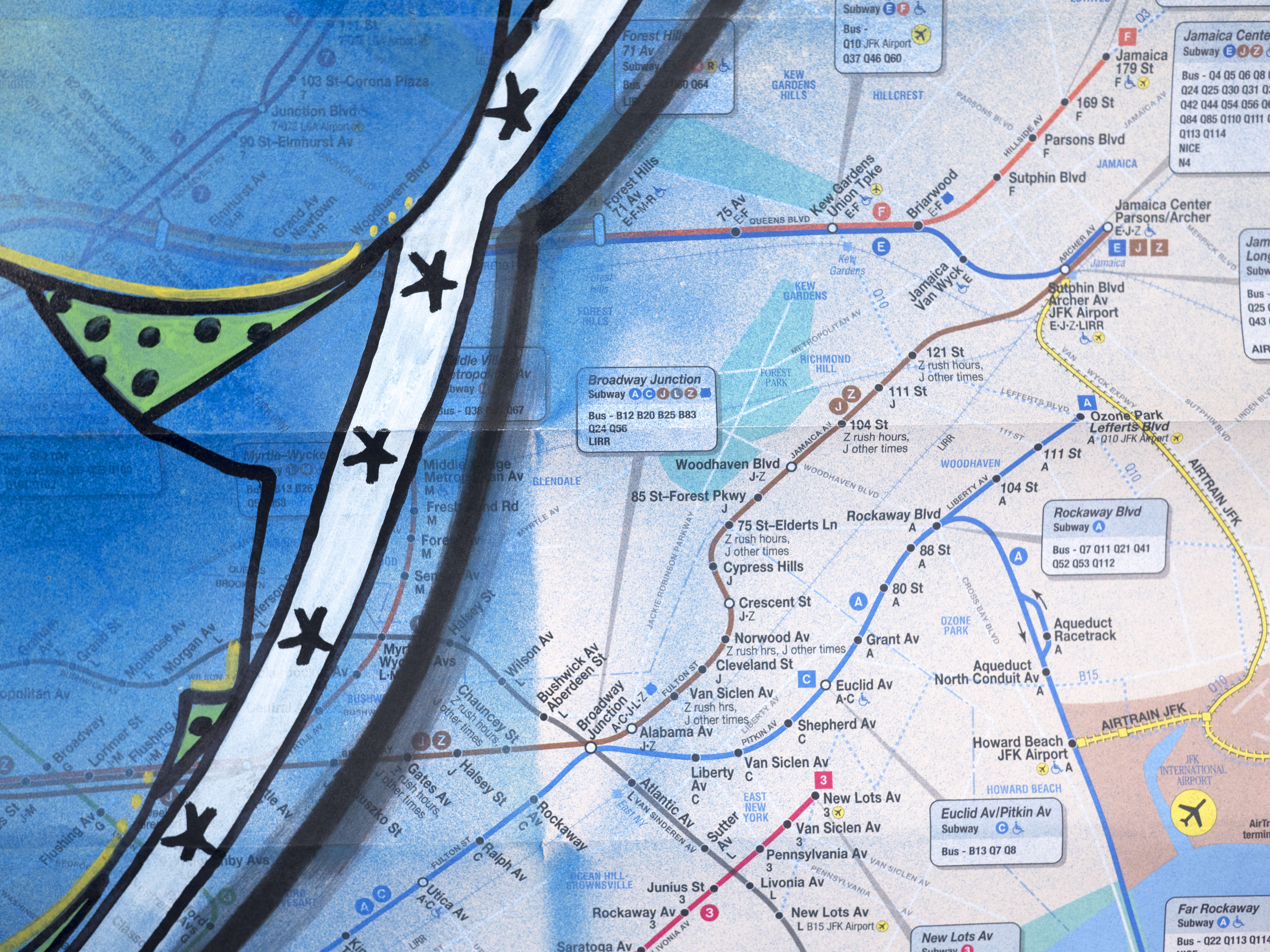 Jfk Subway Map.Original Subway Map 7 By Blade Nelly Duff