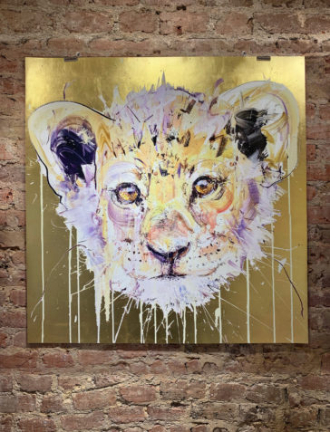 Lion Cub - Gold Leaf