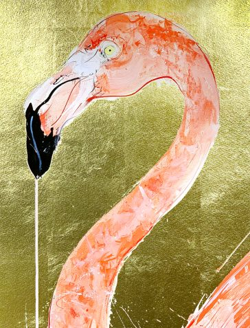 Flamingo I - 2019 [Gold Leaf]