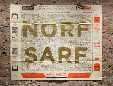 Norf Sarf (Vintage Maps) - Gold