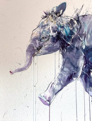 Young Elephant I - Large Diamond Dust